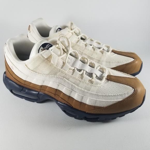 Nike Air Max 95 Premium Athletic Shoes Tan Brown